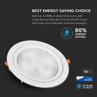 10W LED COB Downlight SAMSUNG 4500K OTOČNÝ